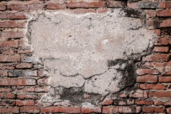 Alte Backsteinmauer mit Raum für Text Stockbild