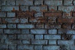 Alte Backsteinmauer mit Weiß und Hintergrund der roten Backsteine Weinlesebacksteinmauerbeschaffenheit Stockfotos