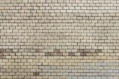 Alte Backsteinmauer mit weißem Farbenhintergrund-Beschaffenheitsabschluß oben Lizenzfreie Stockfotos
