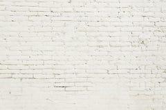 Alte Backsteinmauer mit weißer Farbenhintergrundbeschaffenheit Stockbilder