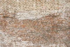Alte Backsteinmauer mit weißer Farbenhintergrundbeschaffenheit Lizenzfreie Stockfotos