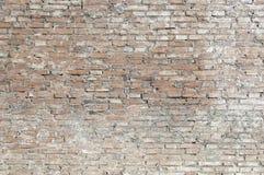 Alte Backsteinmauer mit weißer Farbenhintergrundbeschaffenheit Lizenzfreie Stockbilder