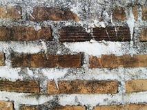 Alte Backsteinmauer mit Zement Trace Texture Background Lizenzfreies Stockbild