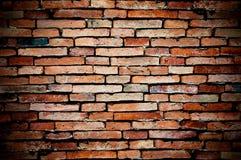 Alte Backsteinmauer orangefarben Lizenzfreie Stockfotos