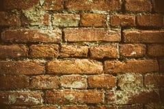 Alte Backsteinmauer Retro- Hintergrund Stockfotos