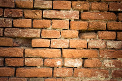Alte Backsteinmauer Retro- Hintergrund Lizenzfreies Stockbild