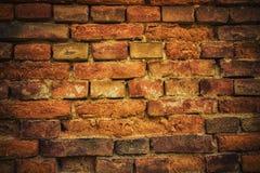 Alte Backsteinmauer Retro- Hintergrund Stockfotografie