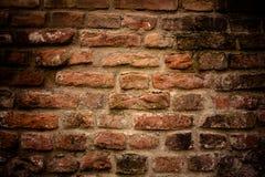 Alte Backsteinmauer Retro- Hintergrund Lizenzfreie Stockbilder