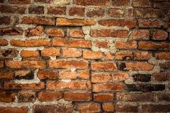 Alte Backsteinmauer Retro- Hintergrund nahaufnahme Lizenzfreies Stockbild