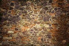 Alte Backsteinmauer Retro- Hintergrund nahaufnahme Stockbilder