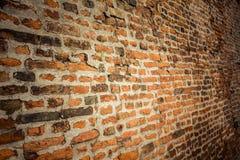Alte Backsteinmauer Retro- Hintergrund nahaufnahme Lizenzfreie Stockfotos