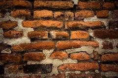 Alte Backsteinmauer Retro- Hintergrund nahaufnahme Lizenzfreie Stockbilder