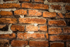 Alte Backsteinmauer Retro- Hintergrund nahaufnahme Stockbild