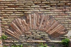Alte Backsteinmauer, Rom Italien Stockfoto