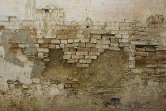 Alte Backsteinmauer: Schmutzwand des alten Hauses Strukturiertes backgroun Stockfotos