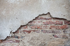 Alte Backsteinmauer, Schmutzwandhintergrund Lizenzfreie Stockfotografie