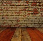 Alte Backsteinmauer und Boden Stockfotos