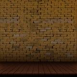 Alte Backsteinmauer und Bretterboden Lizenzfreie Stockfotos