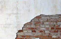 Alte Backsteinmauer und Gips Lizenzfreie Stockfotos