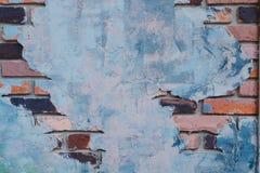 Alte Backsteinmauer und haben Zementabdeckung es dieses Bild für Zusammenfassung Stockfoto