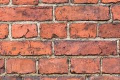Alte Backsteinmauer von den roten Backsteinen Lizenzfreie Stockfotografie
