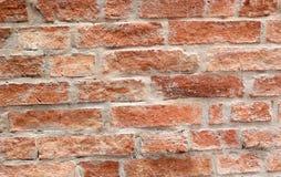 Alte Backsteinmauer, Weinleseart. Stockbild