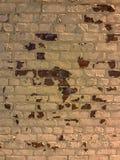Alte Backsteinmauerbeschaffenheit der Weinlese Rotes Weiß des Schmutzes legt Hintergrund Steine in den Weg Stockbild