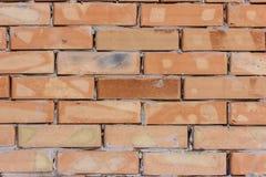 Alte Backsteinmauerbeschaffenheit der Weinlese Rotes Weiß des Schmutzes legt Hintergrund Steine in den Weg Beunruhigte Wand-Oberf Lizenzfreie Stockbilder