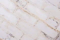 Alte Backsteinmauerbeschaffenheit des weißen Hintergrundes Lizenzfreie Stockfotografie