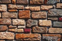 Alte Backsteinmauerbeschaffenheit in einem Hintergrund Lizenzfreie Stockfotografie