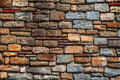 Alte Backsteinmauerbeschaffenheit in einem Hintergrund Lizenzfreies Stockbild