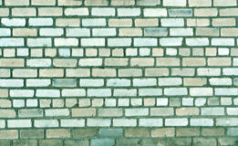 Alte Backsteinmauerbeschaffenheit im cyan-blauen Ton Lizenzfreie Stockfotografie