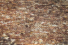 Alte Backsteinmauerbeschaffenheit mit Charakter Lizenzfreie Stockfotografie