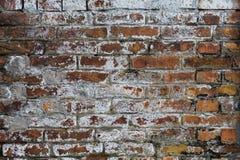 Alte Backsteinmauerbeschaffenheit, Nahaufnahme Stockfoto