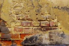 Alte Backsteinmauerbeschaffenheit, Schmutzbacksteinmauerhintergrund Lizenzfreies Stockfoto