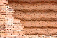 Alte Backsteinmauerbeschaffenheit und -hintergrund Lizenzfreie Stockfotografie