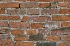 Alte Backsteinmauerbeschaffenheiten und -oberfläche Lizenzfreie Stockbilder