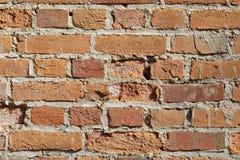 Alte Backsteinmauerbeschaffenheiten und -oberfläche Stockfotos