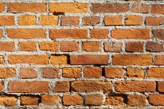 Alte Backsteinmauerbeschaffenheiten und -oberfläche Stockbilder