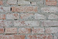 Alte Backsteinmauerbeschaffenheiten und -oberfläche Stockbild