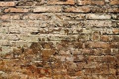 Alte Backsteinmauerbeschaffenheitsschmutzzusammenfassung u. -hintergründe Stockfotos