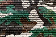 Alte Backsteinmauerfarbenfarbe Lizenzfreie Stockfotografie