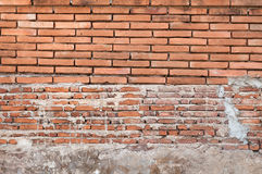Alte Backsteinmauerhintergrundbeschaffenheit, Hintergrundmaterial des IndustrieHochbaus Lizenzfreies Stockfoto