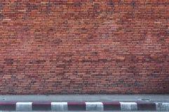 Alte Backsteinmauerhintergrundbeschaffenheit, Hintergrundmaterial des IndustrieHochbaus Stockfotos