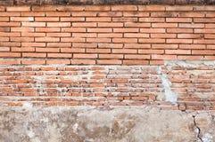 Alte Backsteinmauerhintergrundbeschaffenheit, Hintergrundmaterial des IndustrieHochbaus Stockfotografie