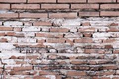 Alte Backsteinmauerhintergrundbeschaffenheit, Hintergrundmaterial des IndustrieHochbaus Stockfoto