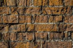 Alte Backsteinmauermusternahaufnahme Stockfoto