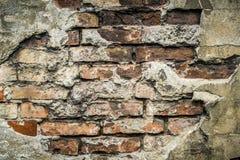 Alte Backsteinmauermusternahaufnahme Stockbild