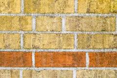Alte Backsteinmauermusternahaufnahme Stockbilder