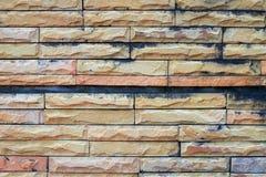 Alte Backsteinmauern und Wasserflecke Lizenzfreies Stockbild